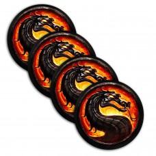 4бр. винилов стикер за капачка на джанти Dragon fire