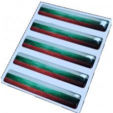 5X гел стикер  за декорация Бг. флаг