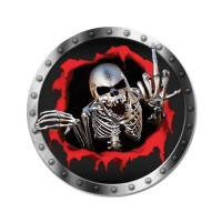 1бр. Стикер за капачките на джантите Skull Aggressive