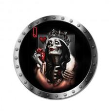 1бр. Стикер за капачките на джантите Queen Skull