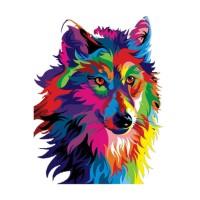 Стикер Wolf 10,4 cm x 13,5 cm