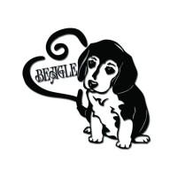 Стикер Куче Бигъл 12 cm х 12 cm