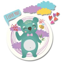 Стикер Детски I love you Bee Bear 24см x 25,7см