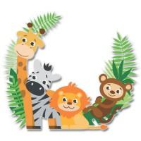 Стикер Детски Jungle 20,5см x 17,6 cm