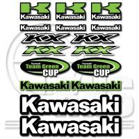 Стикер Kawasaki комплект 29см х 22 см