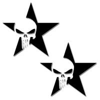 Стикер HEAD STAR SKULL 11 cm x 11 cm 2бр.