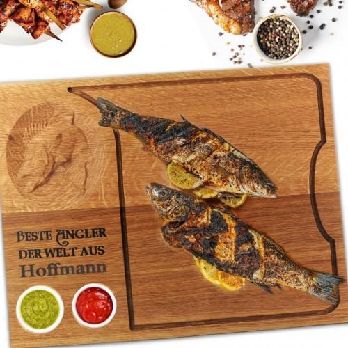 Дъска за мезе - поръчкова - Риба CNC. Grill Melody