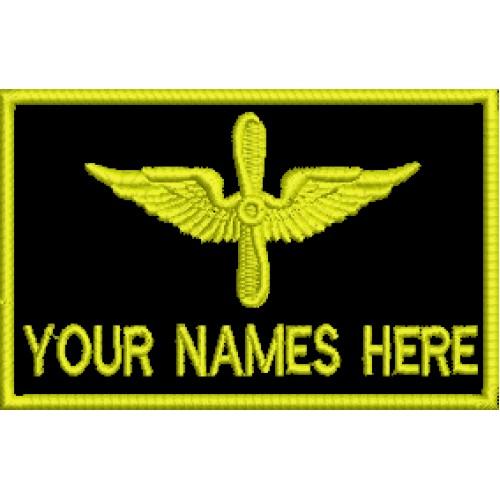 Нашивки - Именна табелка ВВС
