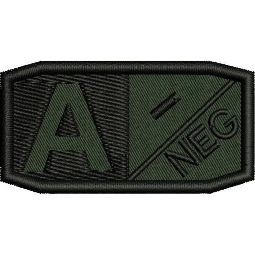 Нашивка кръвна група - A neg