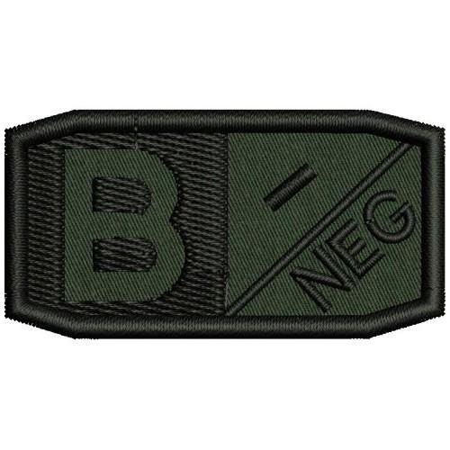 Нашивка кръвна група - B neg