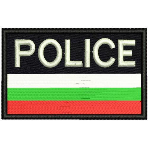 Бродерии знаме с надпис Police