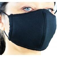 Защитна маска за носа и устата - текстилна - черна