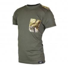 Зелена тениска с пагони 603-1