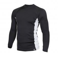 Мъжкa термо блуза с висока яка BLACK GREY 5TMDB2032-11325