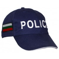 Шапка Police с Български флаг - тъмно синя
