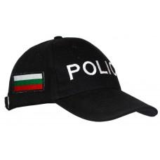 Шапка Police с Български флаг - черна