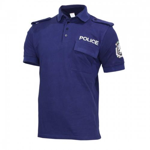 Тъмно синя тениска ПОЛИЦИЯ Pike щампа