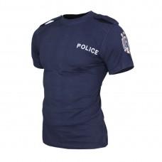 Тъмно синя тениска POLICE с пагони