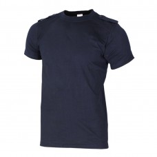 Тениска с къс ръкав и пагони-Black