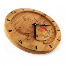 Лазерно гравиран часовник Гълъби