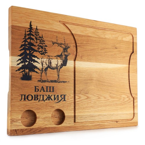 Лазерно гравирана дъска за рязанe- Гора