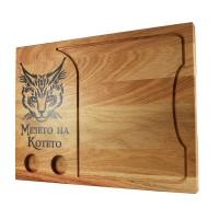 Лазерно гравирана дъска за рязане-Котка